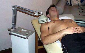Traitement de l'épaule par ondes courtes