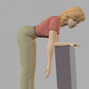 Exercice de relâchement musculaire en pendulaire