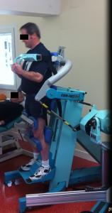 Renforcement musculaire du rachis en centre de rééducation, chez un patient lombalgique chronique